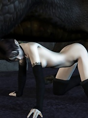 Gorgeous 3D Nymph with little the twins boned by dick