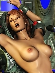 Sci-fi sex experiments with tentacles