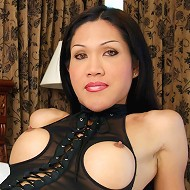 Lek is a kinky ladyboy who loves fetish wear. Her favorite outfit is the one shes wearing because men have easy access t