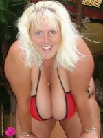 Massive boobs Daphne Stone poolside