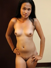 Super cute little Filipina girl enjoys horny foreigners cock