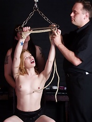 Hot slave gets bound and flogged