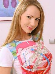 Teenie showing her puffy nipples