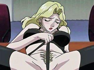 Big Titted Hentai Blondie Satisfying Man