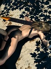Yuri Girl deepthroating as getting fucked by Crusader