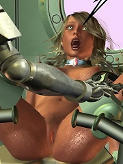 Cute Mistress bombed by 3D partner