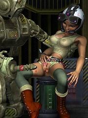 3D Slut gets assplugged and receives cum