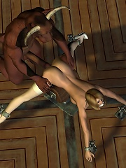 Elven Priestess gets her hole drilled by cock