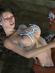 Bitch Babe banged by dizzy 3D Alien