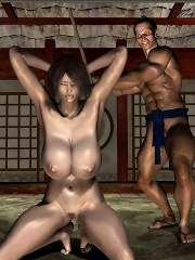 Horny 3D mistress is bombed on ass by Giant