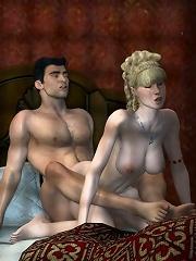 3D Vigrin licks 3D Dude and gets penetrated
