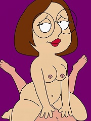 Nasty Meg Griffin slams hard cock