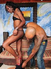 Naked Latina t-girl Myra going for ass plundering