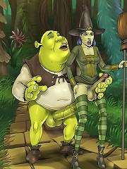 Real dirty futanari sex scenes from Shrek