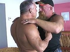Big guys tight ass fingered by a bear