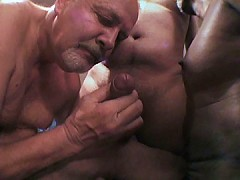 Naughty old guys lick some pricks