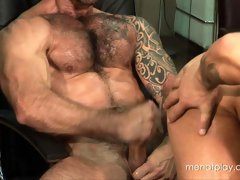 Hardcore gay movies of two sexy muscle men fucking hard and wild