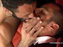 Muscle bears Wilfried Knight & Issac Jones play some hard bondage sex game - hot gay fucking videos