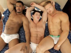 This hot hardcore threeway has Jay Stone getting his ass pounded by both Jackson Cale and Max London ending in a super hot facial.