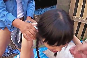 Petite Japanese Babe Fingered Outdoors