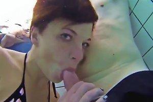 Teen Gives Handjob In Public Pool Free Porn Ed Xhamster