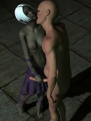 He is embracing that World of Warcraft porn shrimp from behind and she is all trembling