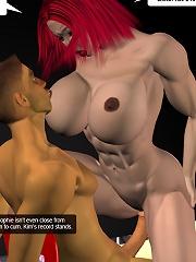 3D Girlie gets stuffed by 3D Devil