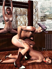 Luscious 3D Amazon gets ripped