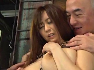 Buxom Chick Bound In A Warehouse And Groped By Horny Men