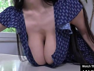 Hot Japanese Maid With Huge Tits