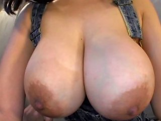 Pigtails Teen With Natural Tits Giving Her Guy Titjob