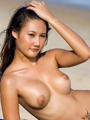 Michella Dao posing on the beach
