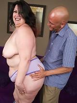 Mature BBW Matalla slowly getting rid of her clothes and dishing out a hot blowjob