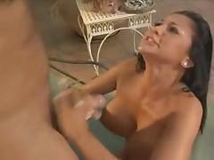 Audrey Bitoni hot fuck and cum on big tits