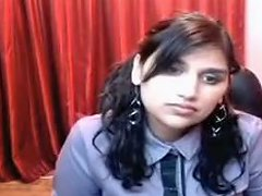 Slutty Office Bitch From India Strips On Webcam With Passion