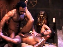 Hairy Hunk Huessein and Hairy Super Stud Steve Cruz are on to each other! A body worship sequence of sheer manpower opens the pairing as each man eage