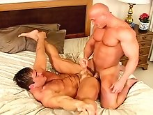 Two gays sixty-nining before a good ass stretching session!