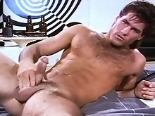 Sexy man finds pure pleasure rubbing on a bike & cums hard