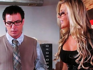 Feisty Ash Hollywood Punishes The Freaky Dude And Makes Him Give Her A Hot Lube Job