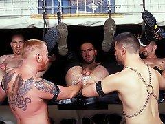 Hard group gay fisting video