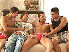Peters twins in awesome foursome video