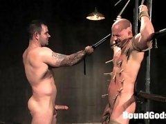 Offcier Dak Ramsey arrests Brock Armstrong and fucks him in bondage.