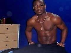 An ebony stud shakes his butt on these videos