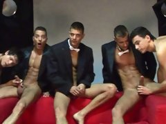 The Visconti triplets in smokings for a new hot photoshoot