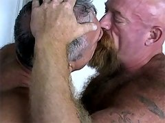 A big mature dude does this tight bear's butthole really hard
