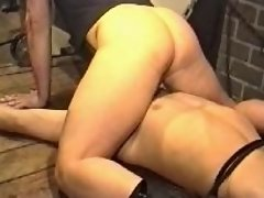 A nasty top sits down on the tied up bottom man's face and forces him to give a head