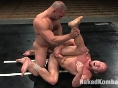 Two bodybuilders fight balls to the wall and then fuck!
