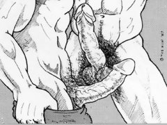 Gay comix of well-hung muscled gay men