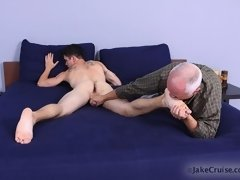 Older gay man pleases a young hunk on these clips