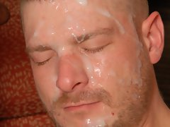 Hairy stud gets fucked hard and facialed with a huge load
